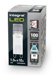 G9 LED Bulb I 10W Equivalent Cool White | LED Lamp